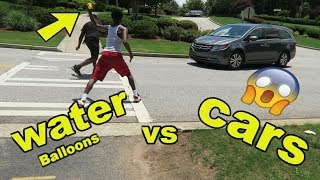 WaterBalloons vs Cars!!!