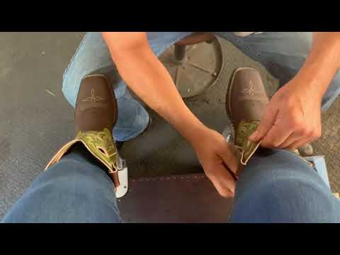 Shoeshine ASMR,  Western Boots Clean And Oil, Durango Boots