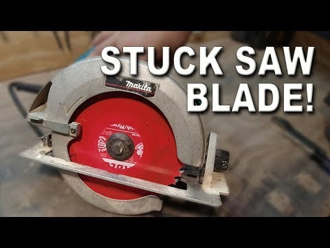 How to Remove a Stuck Circular Saw Blade