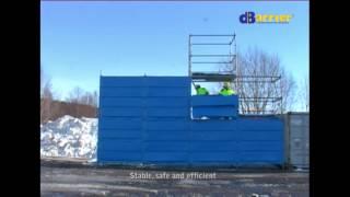 Byggnadsställningar - Bullerdämpande skydd för byggställningar Thumbnail