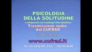 PSICOLOGIA DELLA SOLITUDINE e collegamenti con le patologie delle dipendenze.