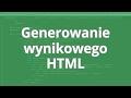 Kurs WordPress wtyczki: Generowanie wynikowego HTML
