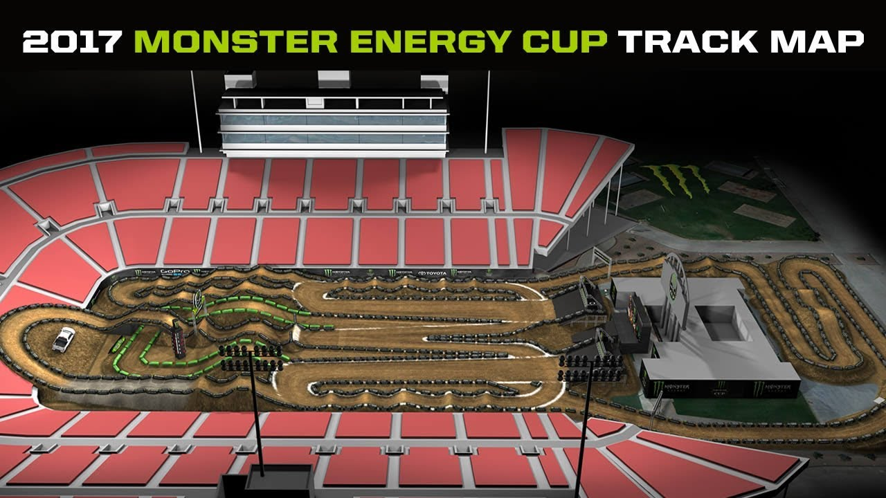 Brand New Design For 2017 Monster Energy Cup Track Youtube