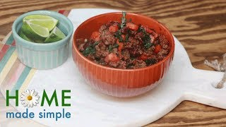 Lamb and Root Veggie Skillet | Home Made Simple | Oprah Winfrey Network