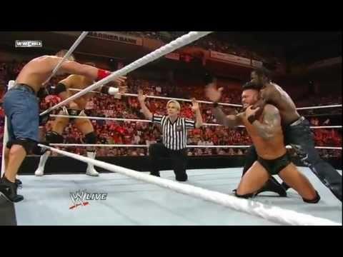 جديد المصارعة رو جون سينا وراندي ضد كريستن وارتروث ...