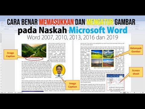 Cara Memasukan dan Mengatur Gambar pada Naskah Microsoft Word