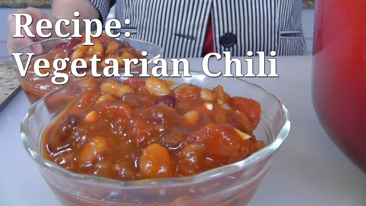 Vegetarian Chili Recipe Adc Video Youtube