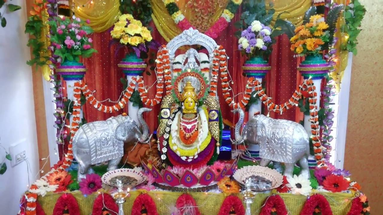 Varamahalakshmi festival decoration 2014 youtube for Decoration images