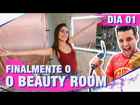 TOUR COMPLETO PELO BEAUTY ROOM DA JANAMAKEUP NO MEIO DA OBRA  I DIARIO DE REFORMA DIA 01