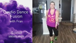 01/18- BE WELL LIVE CLASS CARDIO DANCE: With Fran 45 Min