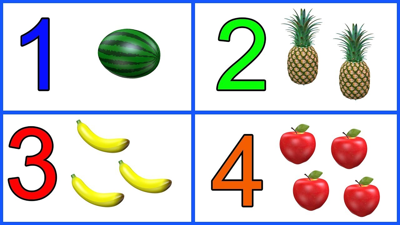Download Learn 1 to 10 Numbers & Fruit Names   123 Number Names   1234 Counting for Kids   Cartoon Video