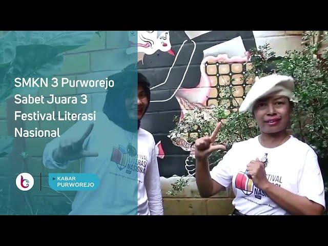 SMKN 3 Purworejo Sabet Juara 3 Festival Literasi Nasional