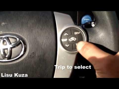 2013 prius c maintenance reset