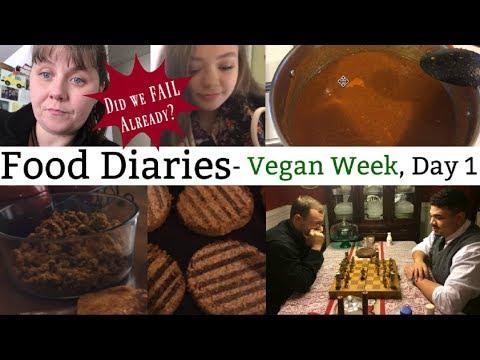 Food Diaries- Vegan Week Day 1- DID WE FAIL ALREADY?