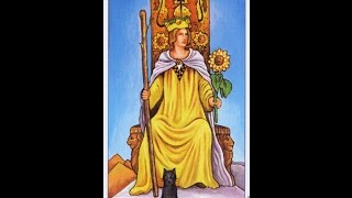 Lady Leeanna discusses the Queen of wands within the Ryder Waite se...
