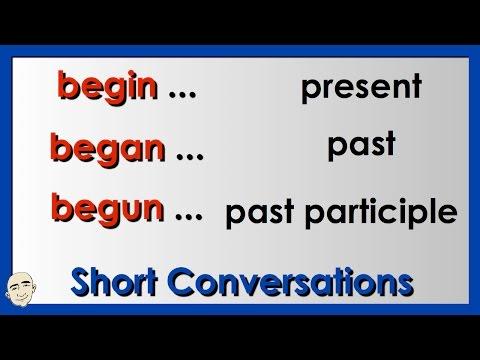 Irregular Verbs | Begin, Began, Begun | English grammar Practice | ESL | EFL | ELL