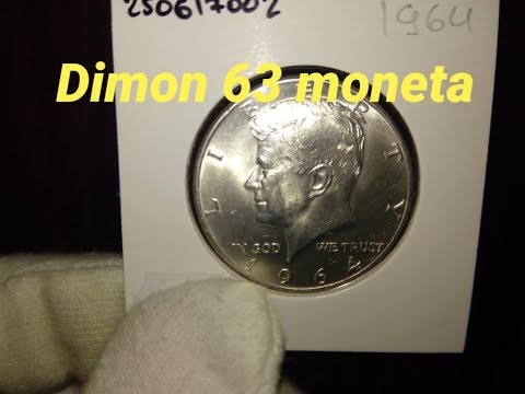 Монета 50 центов США 1964 года / Kennedy Half Dollar