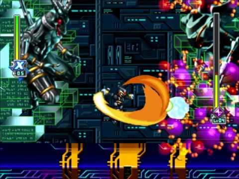 Rockman X6 Nightmare Mother boss fight (Lv.04-X-Shadow ...