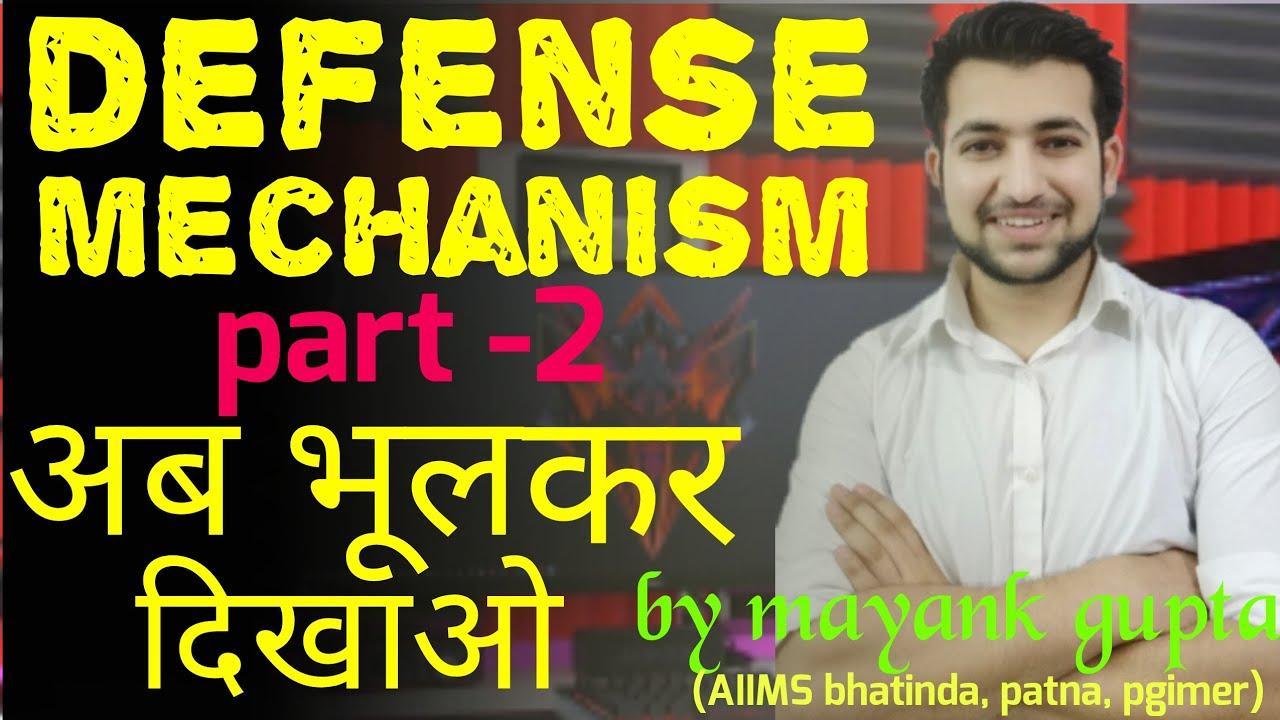 Defense Mechanisms Nursing Part 2 Mental Health Nursing Inhindi
