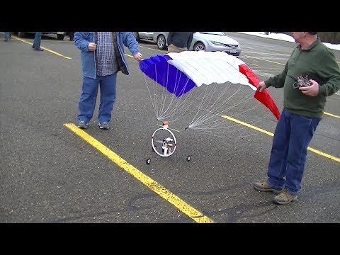 Para-sail CRASH Lots of RC FUN New Stuff Outside Flying Cars Drones planes