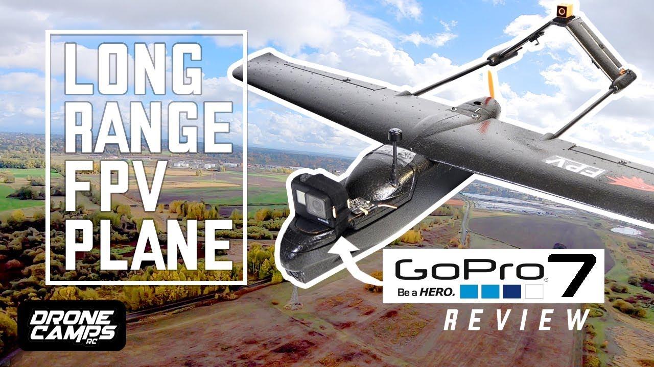 LONG RANGE FPV PLANE - $108 Skyhawk Fpv Plane - FULL REVIEW, FPV, and GOPRO  HERO 7 Flights