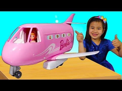 Jannie Pretend Play with Barbie Toy Plane