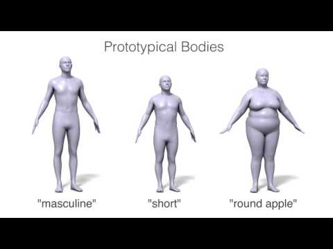 Body Talk: Crowdshaping Realistic 3D Avatars with Words  (SIGGRAPH 2016)