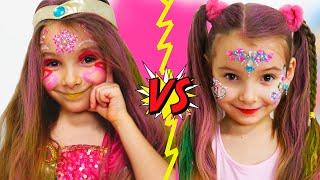 Играем с детской косметикой Делаем макияж и прически для девочек