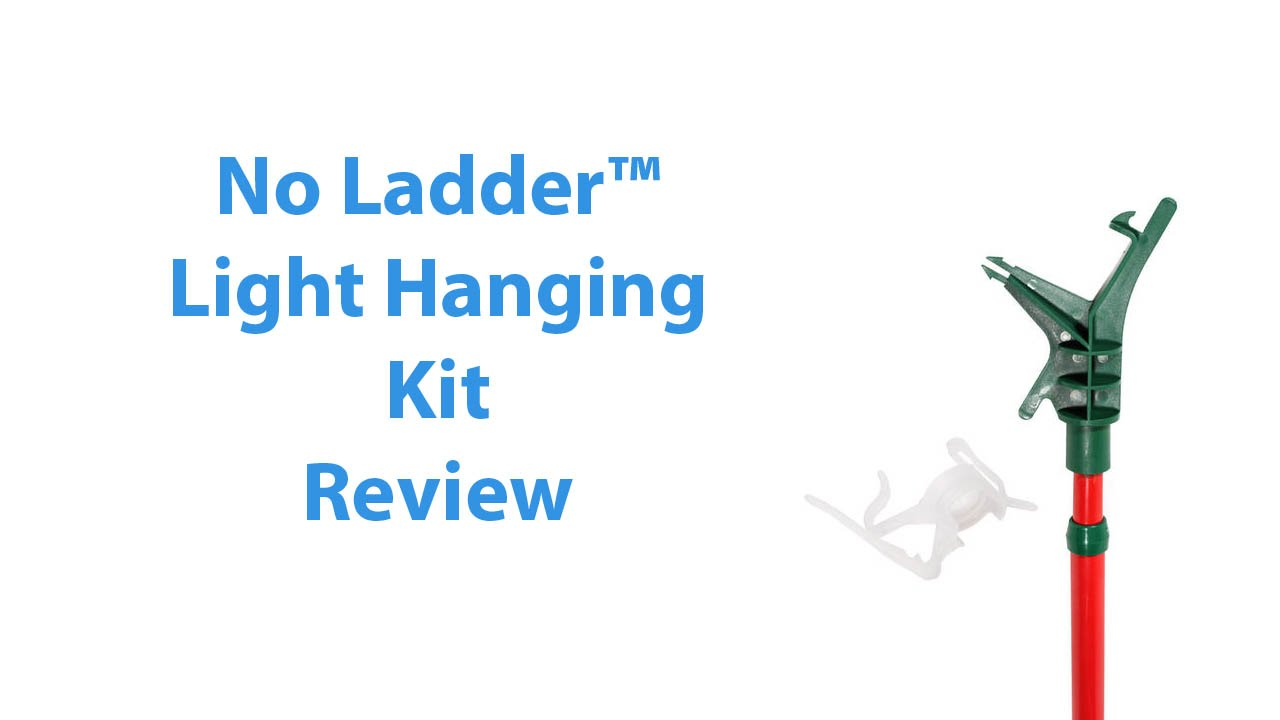 No Ladder Christmas Light Extension Pole Review - YouTube