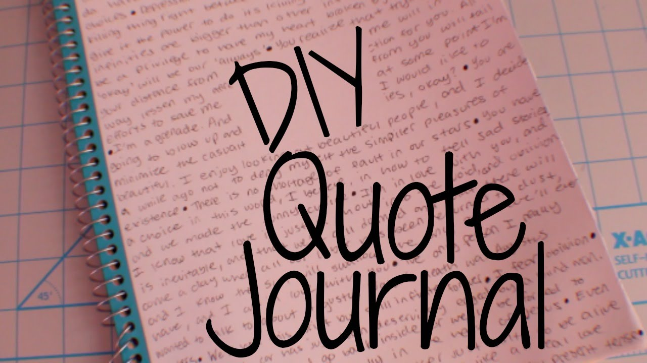 Quotes Notebook Diy  Quote Notebook  Youtube