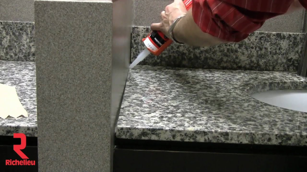 richelieu hardware - how to properly apply sealant - youtube