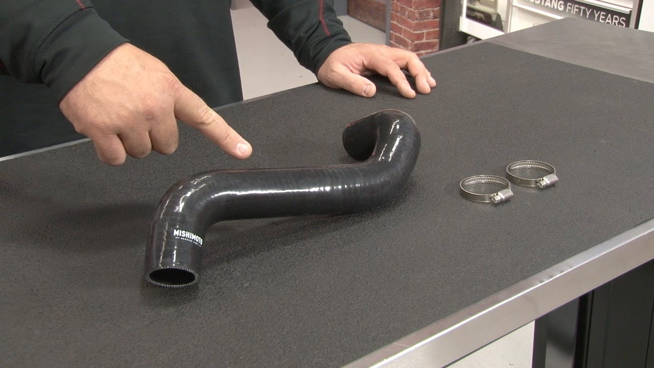 Mustang Mishimoto Upper Radiator Hose With Clamps Silicone ...