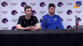 Boise State vs. Air Force Post Game Conference - Nick Duncan and Justinian Jessup - Men