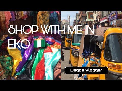 SHOP IN BALOGUN MARKET, African Market VLOG | Lagos Nigeria