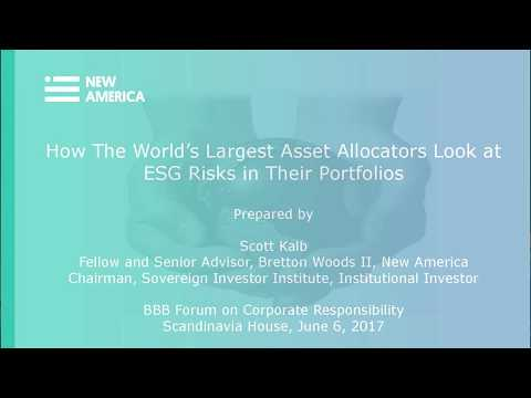 BBB JUN 17 07 HOW THE WORLD'S LARGEST INVESTORS ARE LOOKING AT ESG IN THEIR PORTFOLIOS