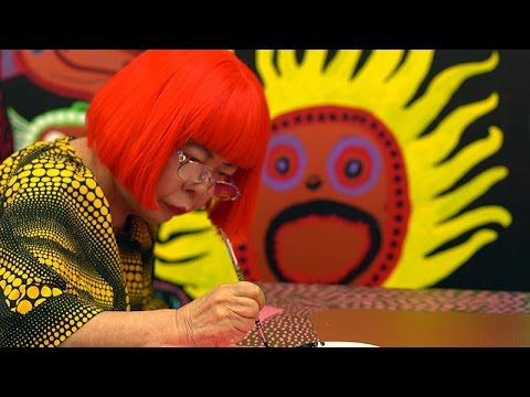 All Together Now Lets Fight Terrorism >> Yayoi Kusama Interview Let S Fight Together Youtube