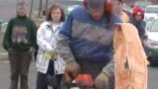 Chainsaw Wood Carving - Santa Clause Start To Finish At Delaware Valley Wood Carvers Show