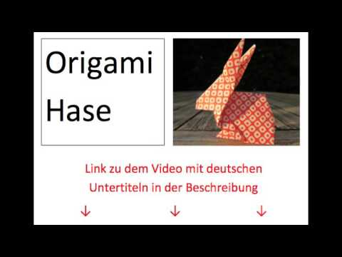 origami hase faltanleitung mit deutschen untertiteln youtube. Black Bedroom Furniture Sets. Home Design Ideas