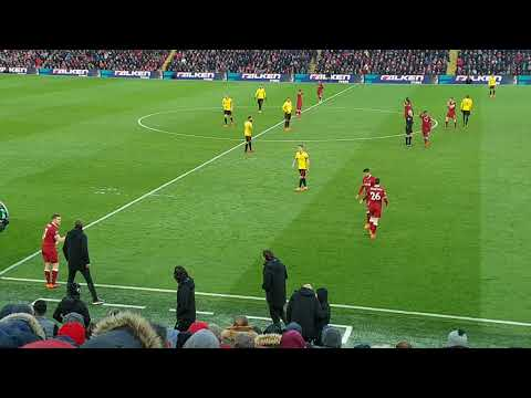 James Milner on for Emre Can vs Watford at Anfield 17/03/2018