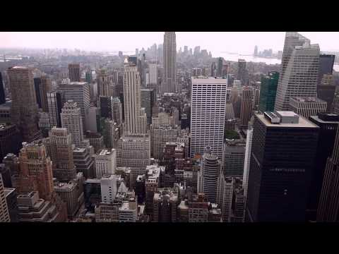 New York City Skyline. HD Manhattan views from Top Of The Rock the Rockefeller Center...