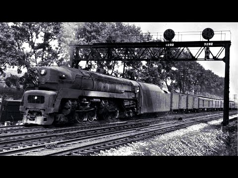 PRR T1 Duplex #5505 at Horseshoe Curve (1949)
