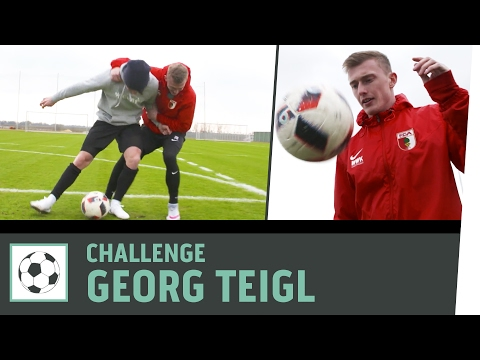 Fußball-Challenges vs. Profi Georg Teigl   FC Augsburg   Kickbox