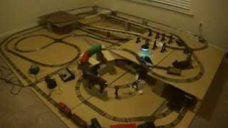 Marx 1666 & Marx 400 Train Track Layout
