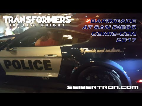 Transformers The Last Knight BARRICADE cruising the streets at San Diego Comic-Con 2017