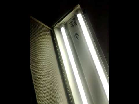 fluorescent light conversion to led t 8 part 2 youtube. Black Bedroom Furniture Sets. Home Design Ideas
