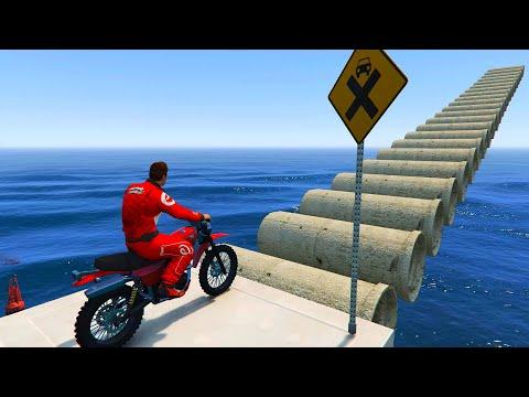 Download GTA 5 | Bike Parkour Pipe Bridge