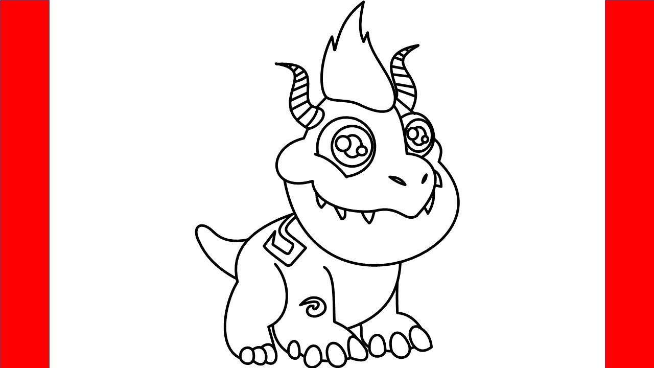 How To Draw Child Terra Dragon From Dragon City - Step By Step Drawing