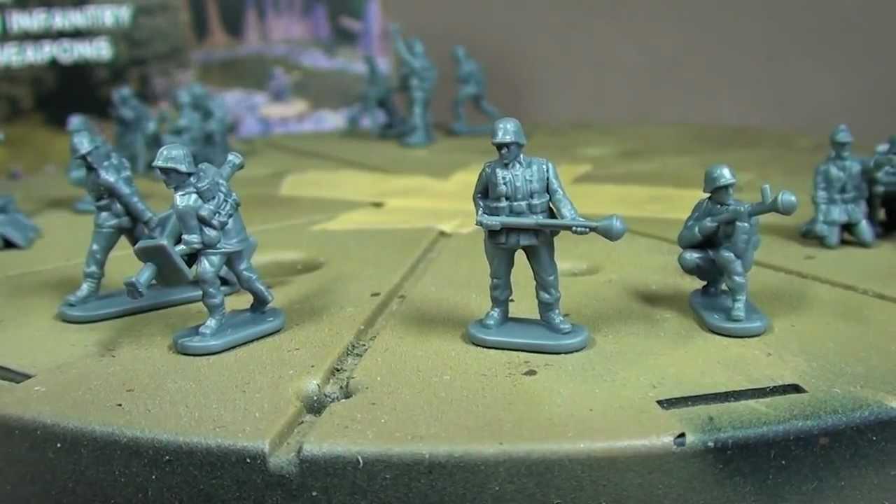 15MM EARLY WAR GERMAN HEAVY WEAPONS SPRUE PLASTIC SOLDIER
