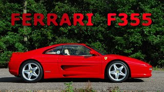 FERRARI F355 flat-out acceleration to 159 mph - awesome sound