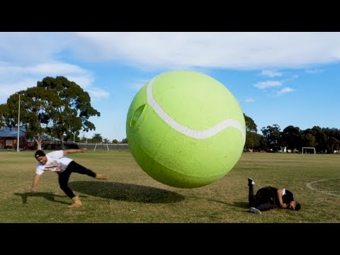 GIANT TENNIS BALL GLADIATOR!!!!